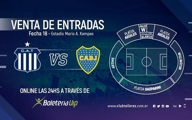Talleres vs Boca Jrs