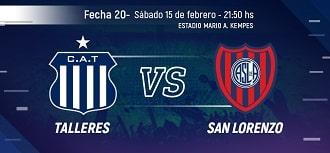 Talleres vs San Lorenzo